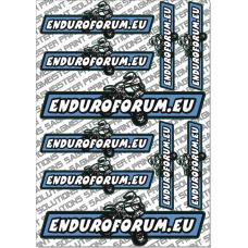 Aufkleberset Enduroforum auf DIN A4 Bogen