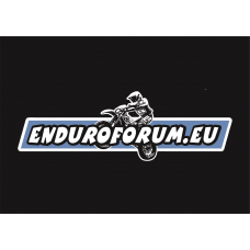 Heckscheibenaufkleber Enduroforum 90x30 cm